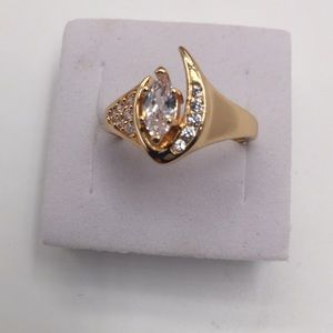 1 CARAT WHITE AAA CUBIC ZIRCONIA 18K GOLD PLATED